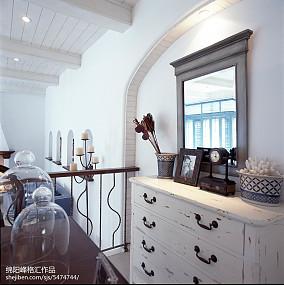 热门地中海复式客厅装修图片复式地中海家装装修案例效果图