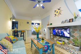 精美73平米二居客厅地中海效果图片二居地中海家装装修案例效果图