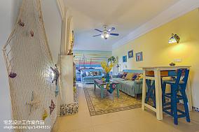 精选地中海二居客厅装饰图片欣赏二居地中海家装装修案例效果图