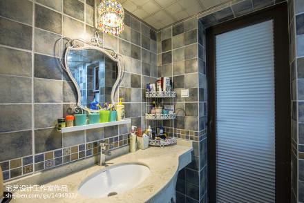 面积78平地中海二居卫生间装修效果图片大全卫生间