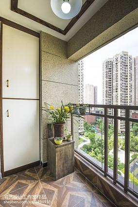 热门101平米三居阳台混搭装修效果图片欣赏