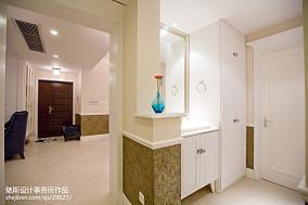 精美91平米三居卫生间简欧装修效果图片121-150m²三居欧式豪华家装装修案例效果图