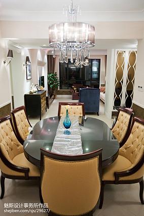 面积100平简欧三居餐厅装修欣赏图121-150m²三居欧式豪华家装装修案例效果图
