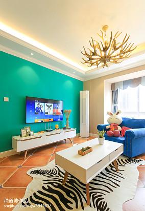 精美面积90平北欧三居客厅装修图片欣赏