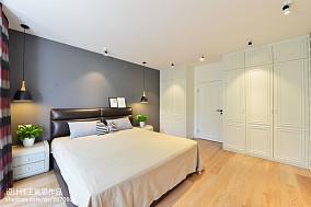典雅87平北欧二居卧室装修案例卧室北欧极简设计图片赏析
