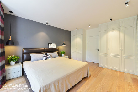 典雅87平北欧二居卧室装修案例卧室