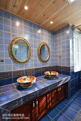 华丽570平美式别墅卫生间装修图片别墅豪宅美式经典家装装修案例效果图