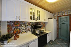 华丽334平美式别墅厨房装饰美图别墅豪宅美式经典家装装修案例效果图