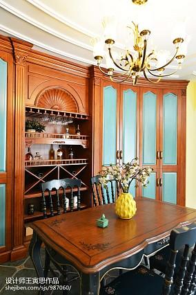 华丽721平美式别墅餐厅美图别墅豪宅美式经典家装装修案例效果图