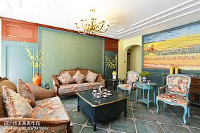 温馨521平美式别墅客厅装修图别墅豪宅美式经典家装装修案例效果图
