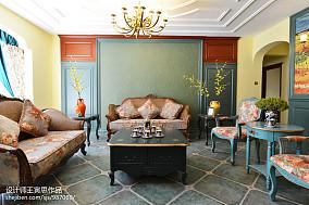 优雅981平美式别墅客厅设计效果图别墅豪宅美式经典家装装修案例效果图