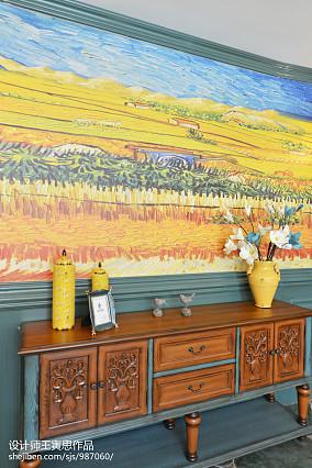 浪漫285平美式别墅客厅装修案例别墅豪宅美式经典家装装修案例效果图