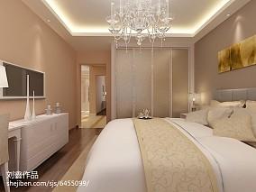 精美70平米二居卧室简约装修图