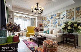 108平米三居客厅混搭装修实景图片大全