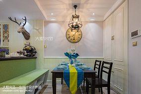 热门面积91平混搭三居餐厅装饰图片欣赏