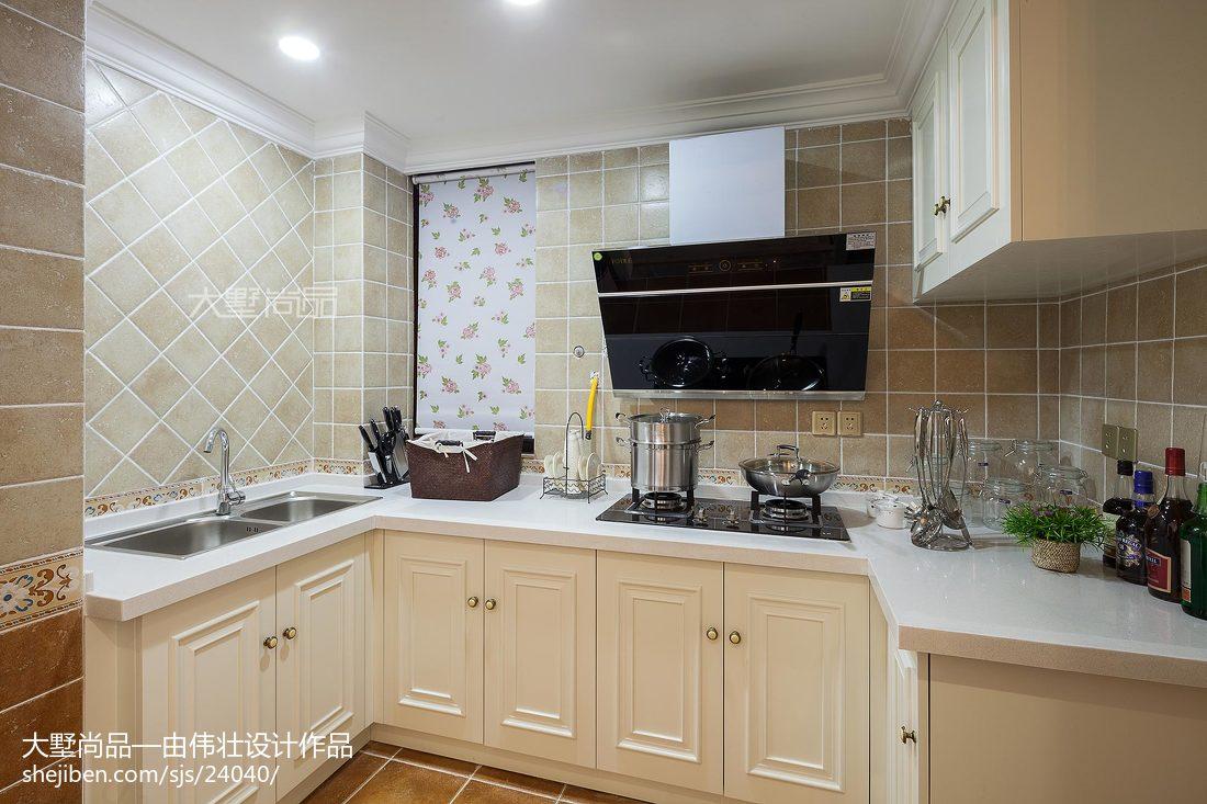 平米三居厨房混搭效果图片欣赏餐厅橱柜潮流混搭厨房设计图片赏析