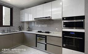 精美125平米四居厨房现代装修实景图片欣赏
