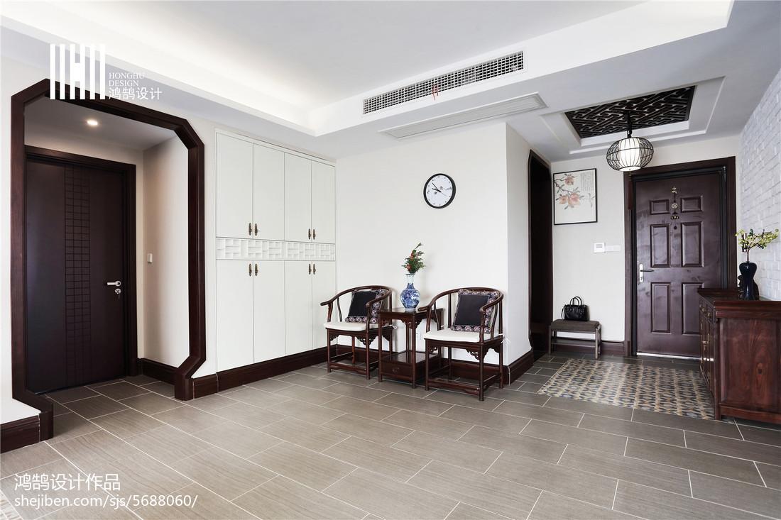 热门面积106平中式三居玄关装修图片欣赏玄关中式现代玄关设计图片赏析