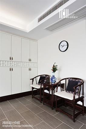 2018面积98平中式三居休闲区装修设计效果图片三居中式现代家装装修案例效果图