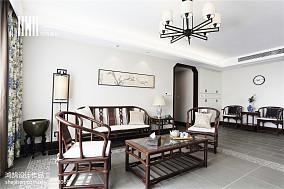 精美中式三居客厅装修欣赏图三居中式现代家装装修案例效果图