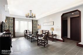热门93平米三居客厅中式效果图片三居中式现代家装装修案例效果图