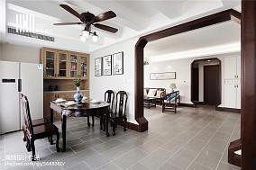 2018面积94平中式三居餐厅装修欣赏图三居中式现代家装装修案例效果图