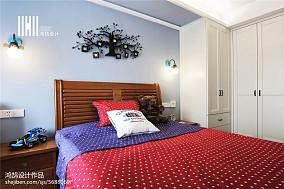 精美105平米三居卧室中式装修图片大全三居中式现代家装装修案例效果图
