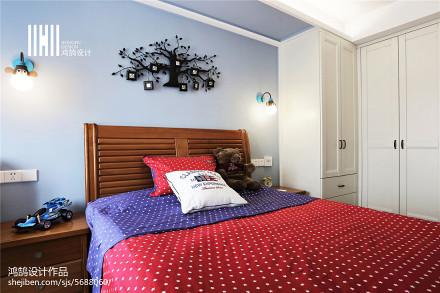精美105平米三居卧室中式装修图片大全卧室