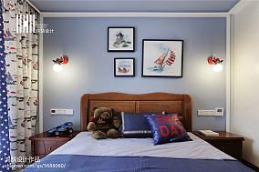 面积108平中式三居儿童房装修图片三居中式现代家装装修案例效果图
