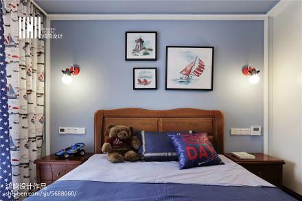 面积108平中式三居儿童房装修图片