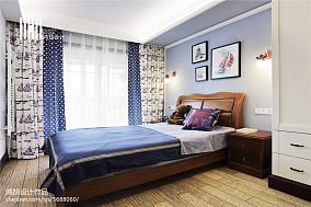 2018面积96平中式三居儿童房装修设计效果图片欣赏三居中式现代家装装修案例效果图