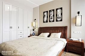 面积97平中式三居卧室装修设计效果图片三居中式现代家装装修案例效果图