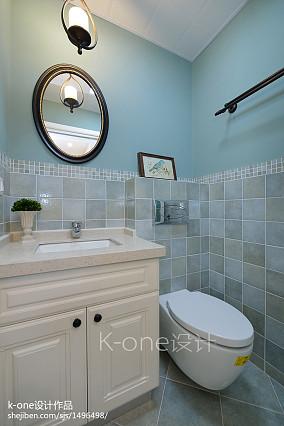 精美大小104平美式三居卫生间效果图片卫生间设计图片赏析