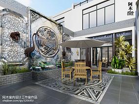 精选113平米中式别墅花园装修设计效果图片