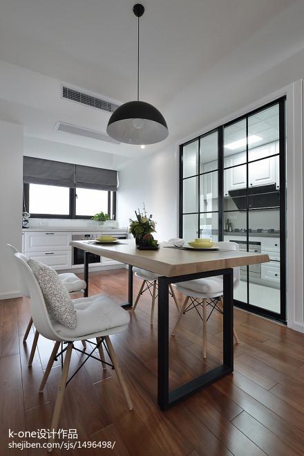 热门89平米二居餐厅北欧装修实景图厨房