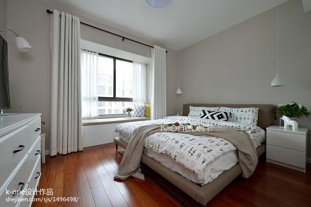 热门面积83平北欧二居卧室效果图卧室