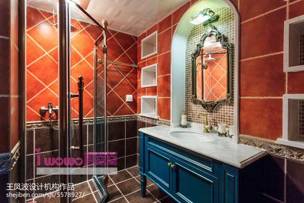 精美二居卫生间美式装修欣赏图片卫生间