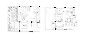 浪漫70平中式复式装饰图片复式中式现代家装装修案例效果图