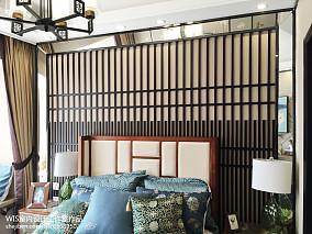 2018中式复式卧室装修欣赏图片复式中式现代家装装修案例效果图