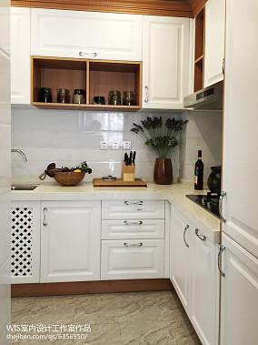 精选面积124平复式厨房中式装修欣赏图片大全复式中式现代家装装修案例效果图
