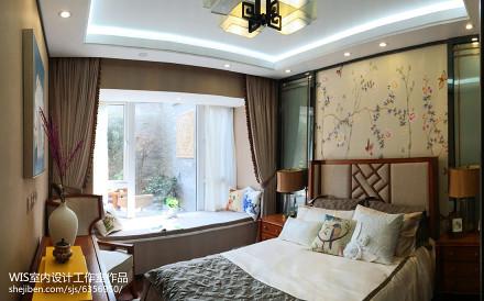 悠雅73平中式复式卧室布置图