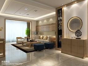 2018精选面积104平中式三居客厅装修欣赏图
