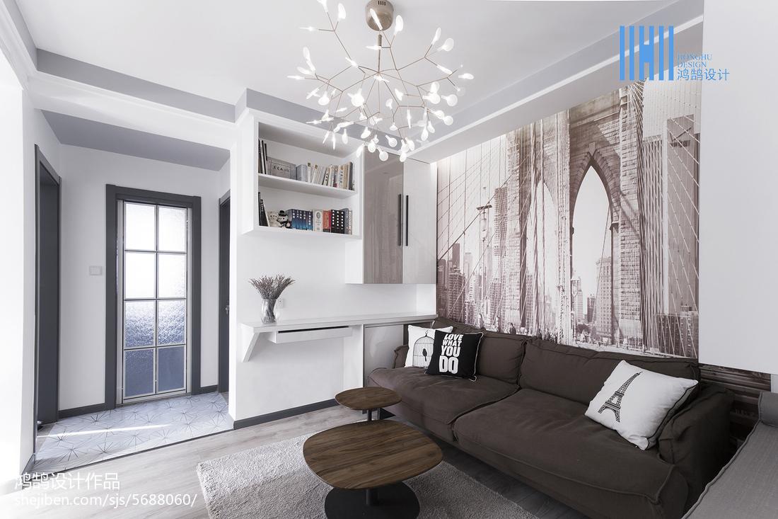 2018大小89平北欧二居客厅装饰图片大全客厅北欧极简客厅设计图片赏析