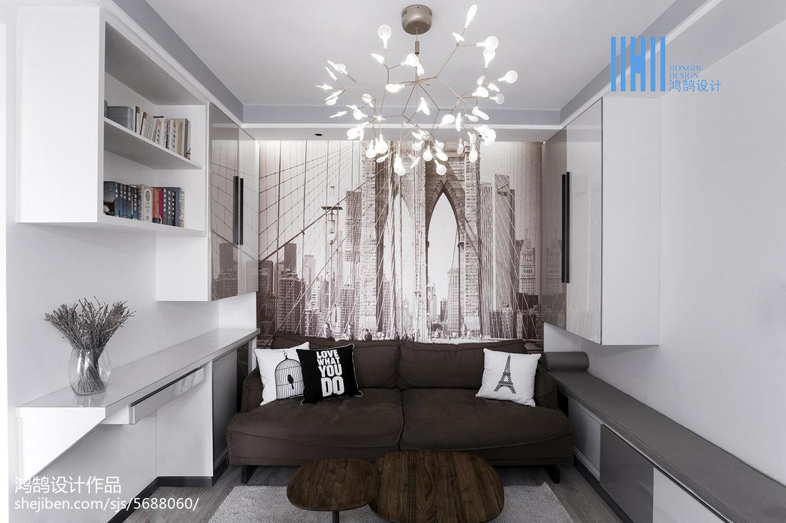 精美86平米二居客厅北欧装修设计效果图片北欧极简设计图片赏析