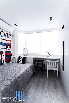 男儿童房设计二居北欧极简家装装修案例效果图
