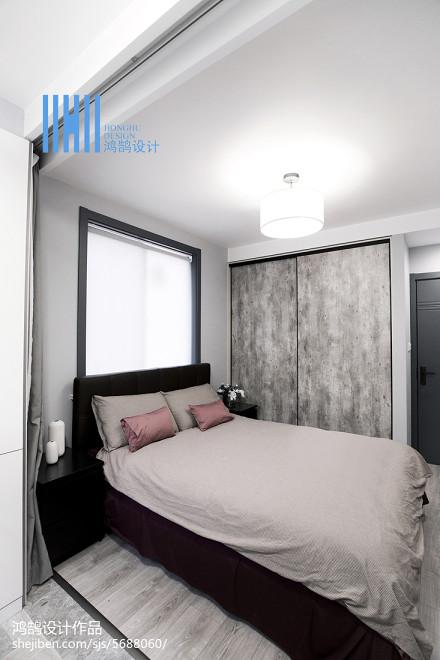 面积82平北欧二居卧室欣赏图片