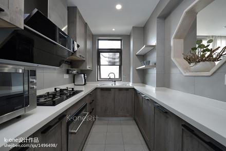 2018精选面积116平中式四居厨房欣赏图片餐厅