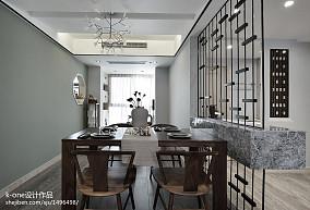 面积113平中式四居餐厅装修图片