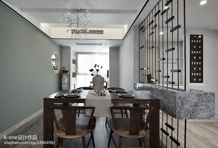 面积113平中式四居餐厅装修图片厨房