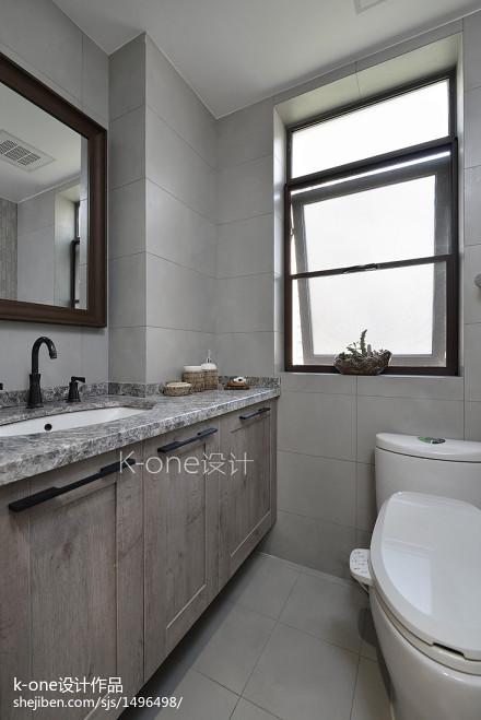 时尚家装中式卫浴效果图卫生间